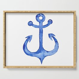 Dreaming of nautical adventure Serving Tray