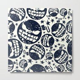 Happy halloween  bomb pattern Metal Print