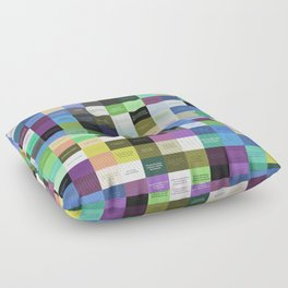 Colored life quotes Floor Pillow