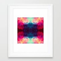 reassurance Framed Art Prints featuring Reassurance Rorschach  by Caleb Troy