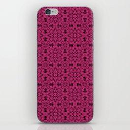 Pink Yarrow Geometric Pattern iPhone Skin