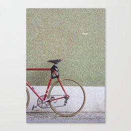 Bike in the city Canvas Print