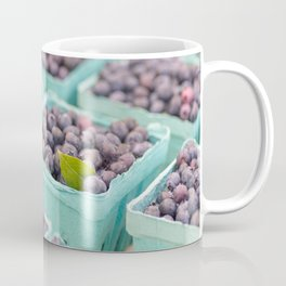 Blueberries at the market Coffee Mug