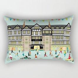 Art Print of Liberty of London Store - Daytime Rectangular Pillow