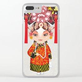 Beijing Opera Character TieJing Princess Clear iPhone Case