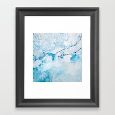blue wall Framed Art Print