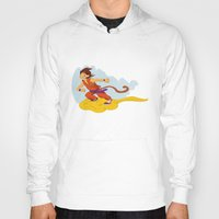 dragonball Hoodies featuring DragonBall: Goku and Nimbus by Michelle Rakar