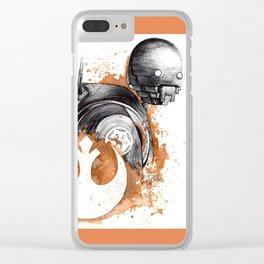 Rogue droid Clear iPhone Case