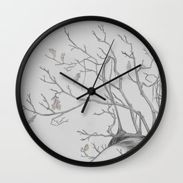 Lady November - digital painting Wall Clock
