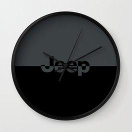 Jeep 'LOGO' Smoke Gray Wall Clock