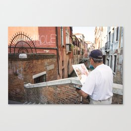 Painter Man  Canvas Print