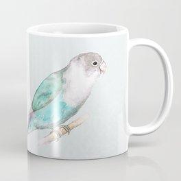 Pale blue lovebird Coffee Mug