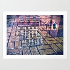 scarlet sails Art Print
