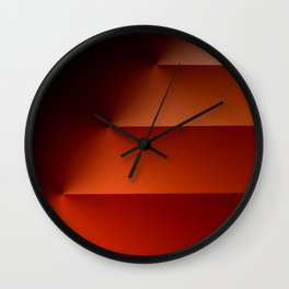 Steps in Reds Wall Clock