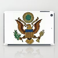 patriotic iPad Cases featuring Patriotic Eagle by manderjack