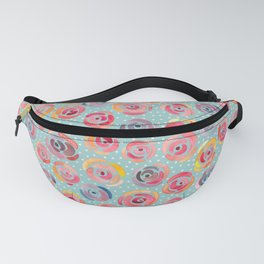 Watercolor Roses with Dots - Forever is Composed of Nows Fanny Pack