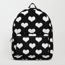 Black White Hearts Minimalist Backpack