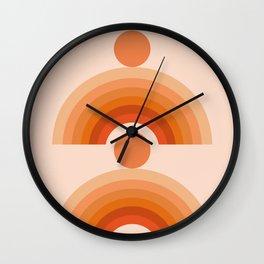 Abstraction_SUN_Rainbow_Minimalism_005 Wall Clock