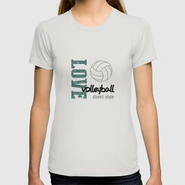 Love Volleyball Street Style T-shirt