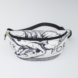 Triceratops Never Forget Fanny Pack