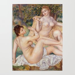 Les Grandes Baigneuses (The Large Bathers) by Auguste Renoir Poster