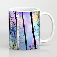 decal Mugs featuring fantasy sky by haroulita