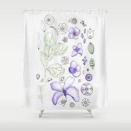 Violet Watercolor Shower Curtain