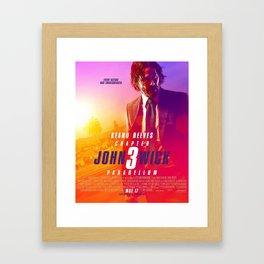 John Wick 3 Framed Art Print