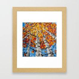 Flaming Foliage Framed Art Print