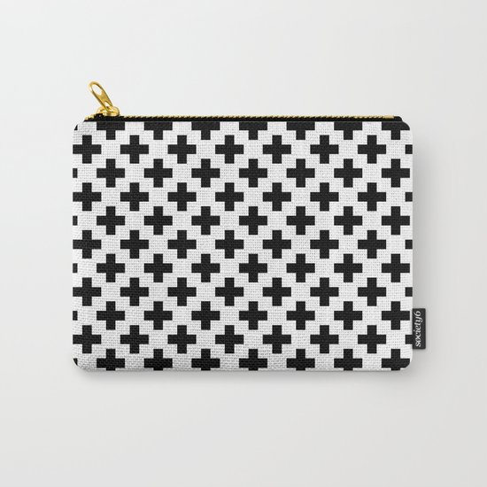 Plus Black & White Carry-All Pouch