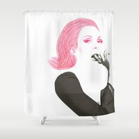 cherry Shower Curtains featuring CHERRY by TEN-iD