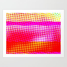 Pink Stripe Pattern Design Art Print