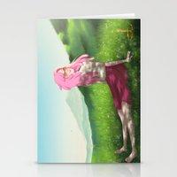 princess bubblegum Stationery Cards featuring Princess Bubblegum by Sarah M