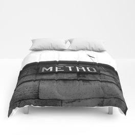 Paris Metro Comforters