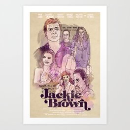 Jackie Brown Film Poster Fan Art Art Print