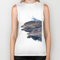 dolphins Biker Tanks featuring Dolphins by Chloe Yzoard