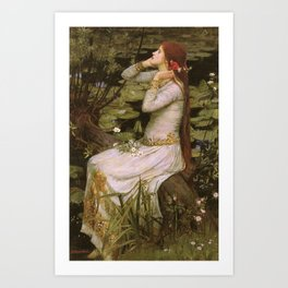 John Willliam Waterhouse Ophelia 1894 Art Print
