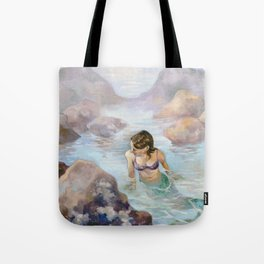 The Lonely Tidal Pool Tote Bag