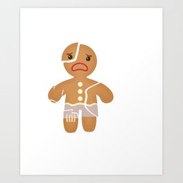 Funny Gingerbread I Hate Christmas Art Print