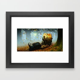 Old man and a beetle Framed Art Print