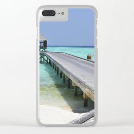 Boardwalk in Paradise Clear iPhone Case
