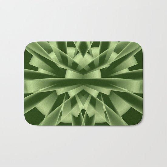 Abstract in green tones Bath Mat