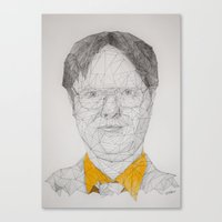 dwight schrute Canvas Prints featuring Dwight Schrute by Hannah Westhoven