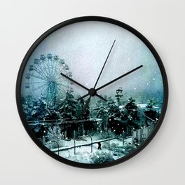 Cold Forest Playground Wall Clock