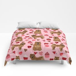 Chow Chow dog breed pure breed valentines day cupcakes love pet gifts must have doggo pupper lovers Comforters