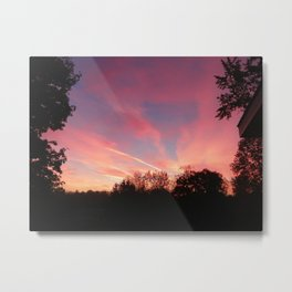 Ithaca Sunset Metal Print