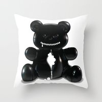 hug Throw Pillows featuring Hug by Bubblegun