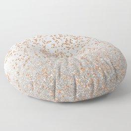 Glitter sparkle mix - rose gold & silver Floor Pillow