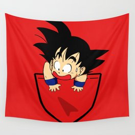 Pocket Saiyan Wall Tapestry