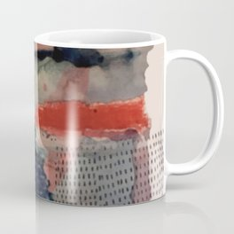 Independent: a red and blue abstract watercolor Coffee Mug